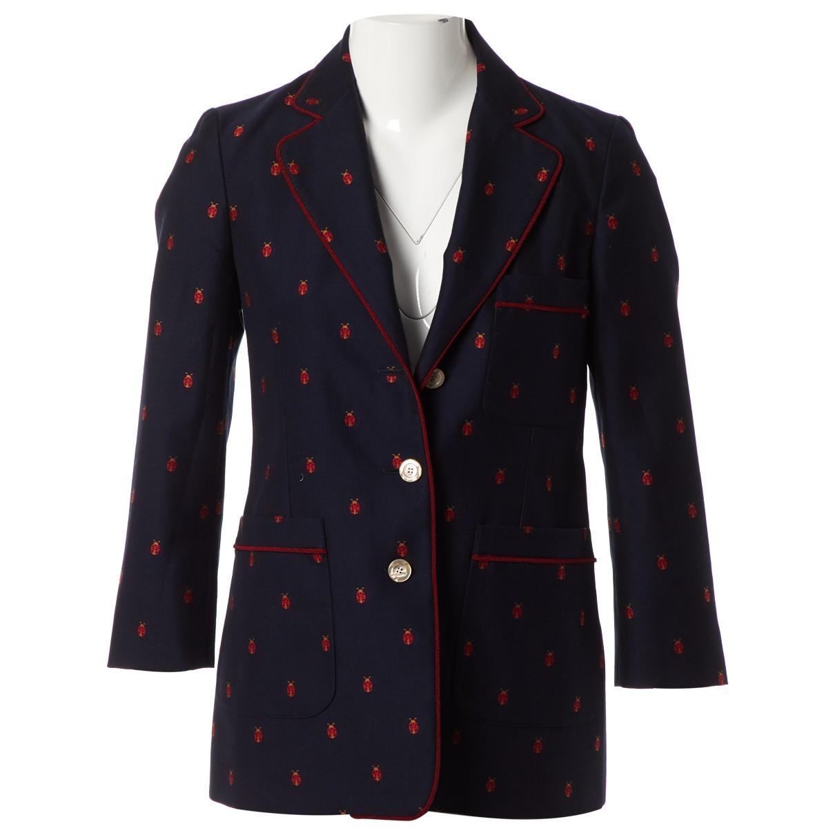 Gucci - Veste   pour femme en coton - marine