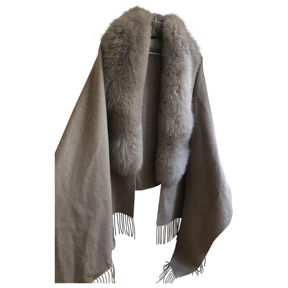 Sprung Freres - Veste   pour femme en renard - gris