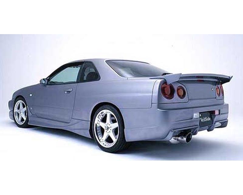 VeilSide 1999-2002 Nissan Skyline GT-S JDM ER34 C-I Model Rear Bumper Spoiler (FRP)