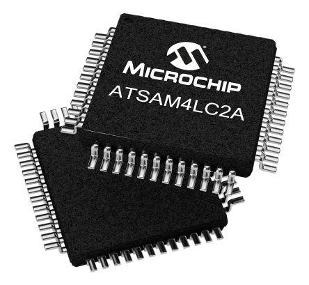 Microchip ATSAM4LC2AA-AU, 32bit ARM Cortex M4 Microcontroller, SAM4L, 48MHz, 128 kB Flash, 64-Pin TQFP