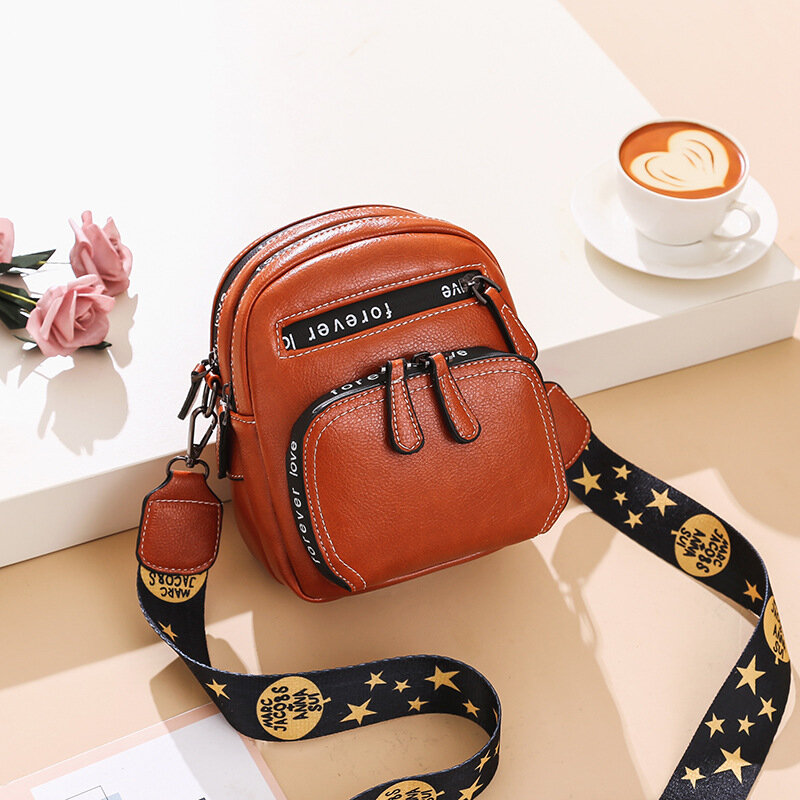 Women Print Shoulder Strap Multi-Layers Crossbody Bag Shoulder Bag