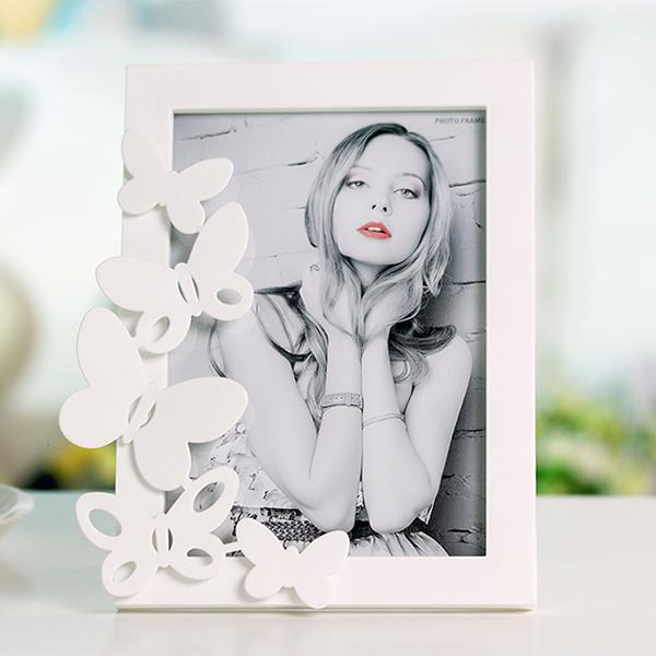 Wonderful Butterfly Decoration Plastic Desktop Photo Frame