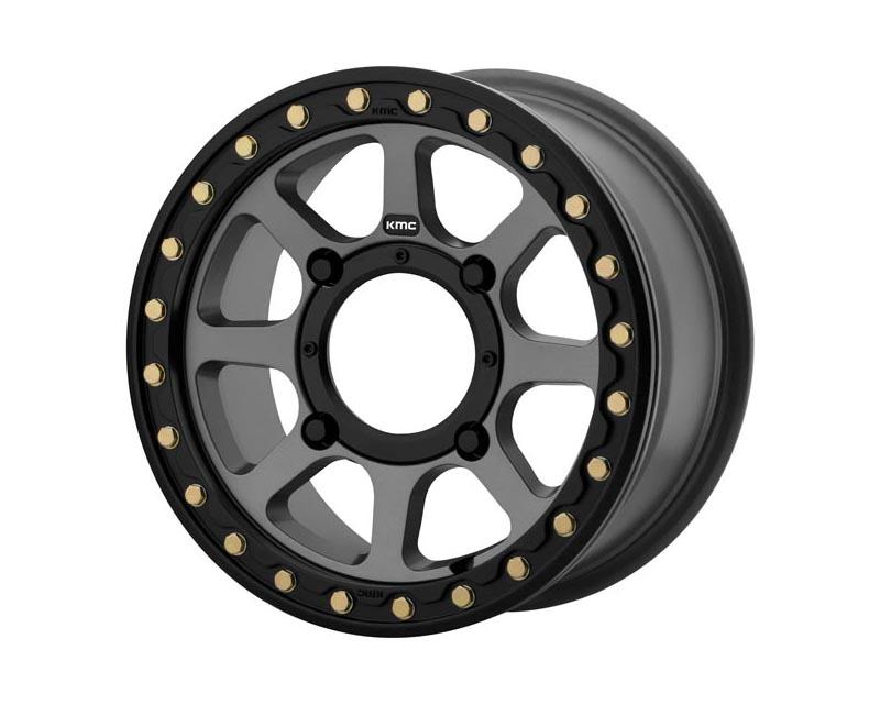 KMC ATV Addict 2 Beadlock Wheel 14x7 4X156 38mm Satin Grey