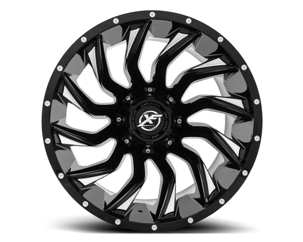 XF Off-Road XF-224 Wheel 24x14 8x165.1|8x170 -76mm Gloss Black Milled
