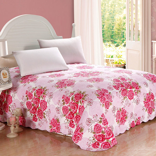 Bunches of Roses Printing Cotton Queen Size Printed Sheet