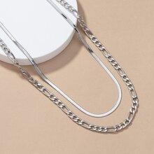 Maenner mehrschichtige Halskette