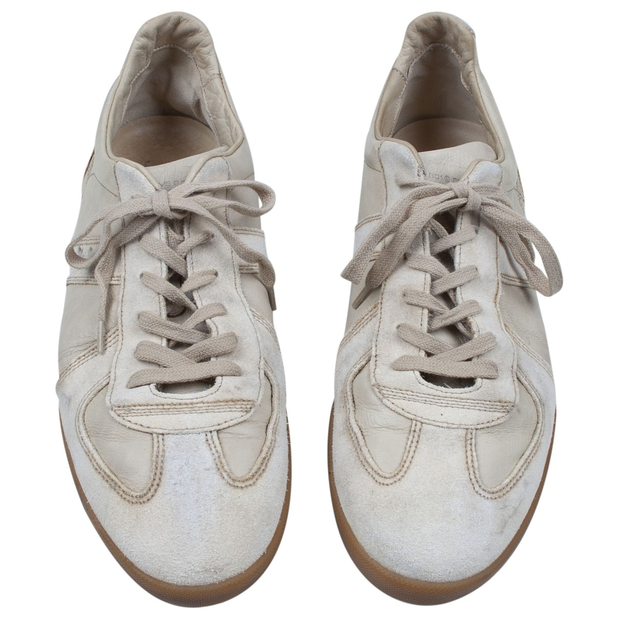 Dior Homme B01 Sneakers in  Weiss Leder