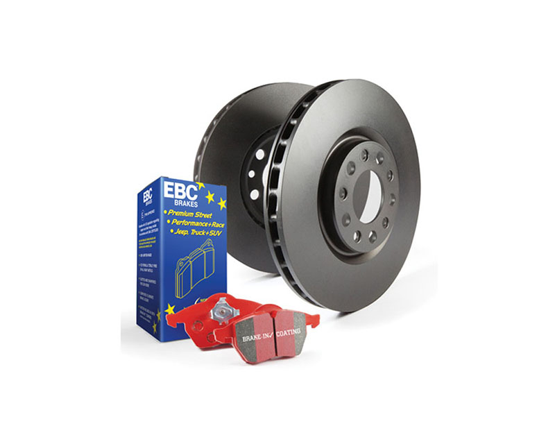 EBC Brakes S12KF1752 S12KF Kit Number Front Disc Brake Pad and Rotor Kit DP32225C+RK1976 Volkswagen Golf MK7 Front 2017 1.8L 4-Cyl