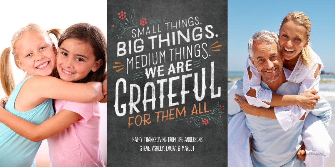 Thanksgiving Photo Cards Flat Glossy Photo Paper Cards with Envelopes, 4x8, Card & Stationery -Small Things, Big Things