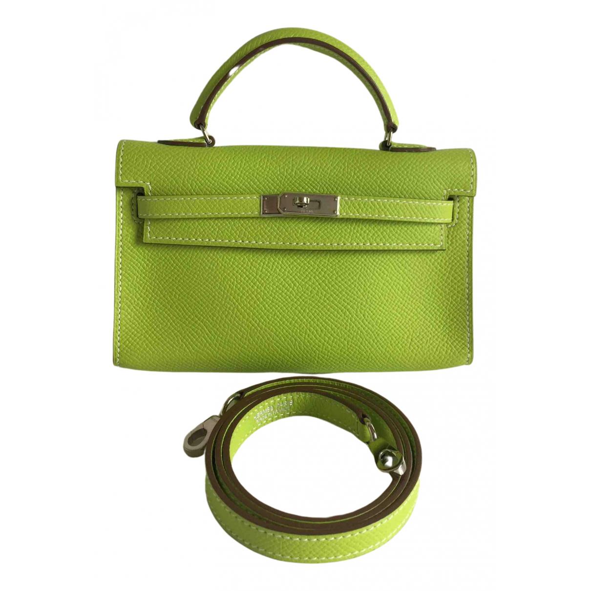 Hermès Kelly Tiny Green Leather handbag for Women N