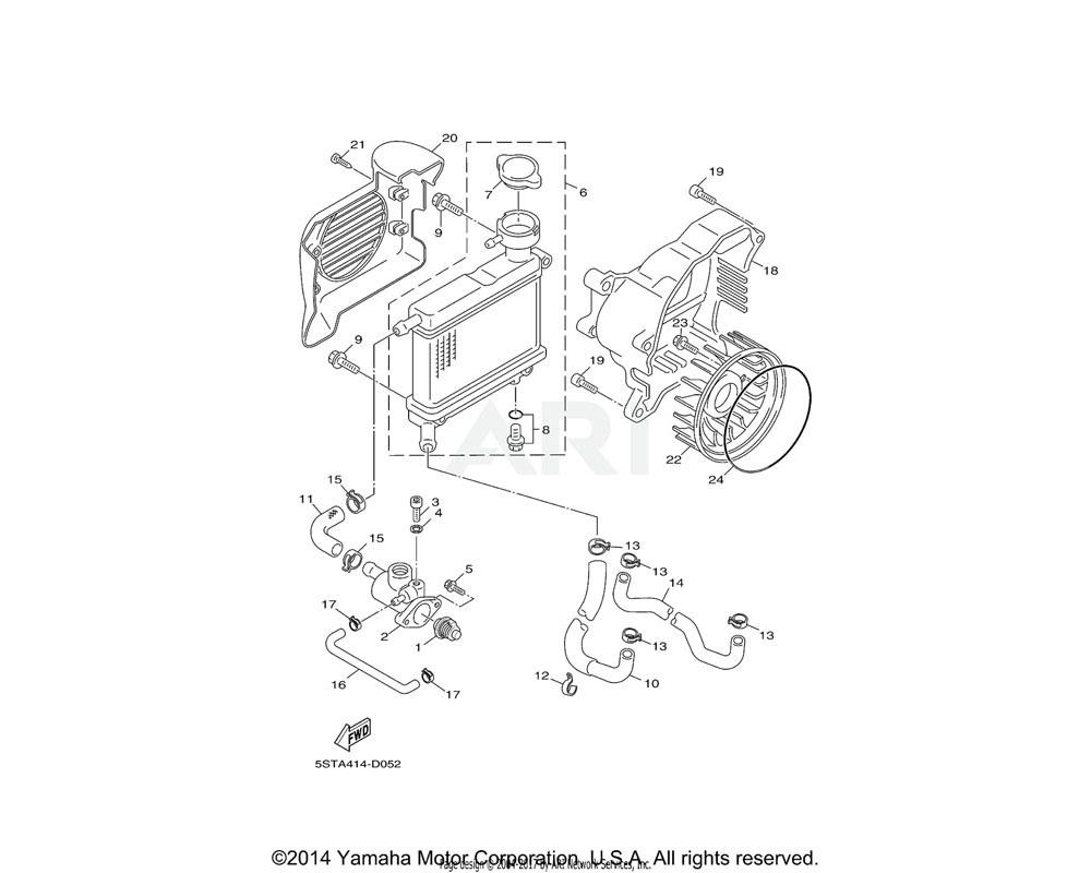 Yamaha OEM 90105-06896-00 BOLT, FLANGE