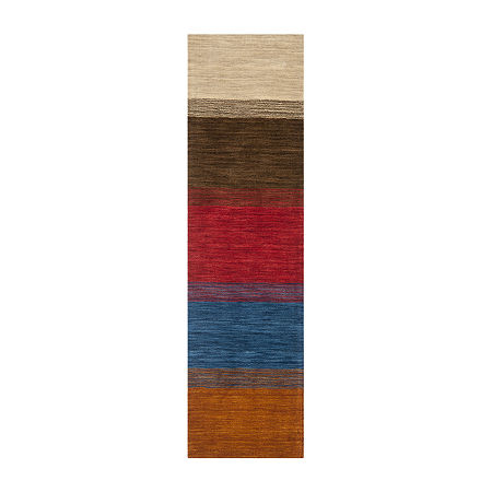 Safavieh Himalaya Collection Ilarion Striped Runner Rug, One Size , Multiple Colors