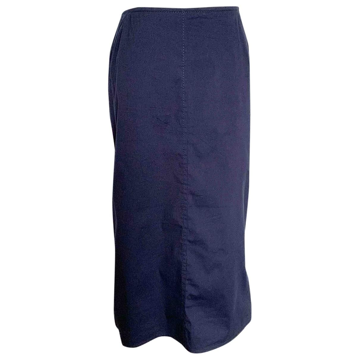 Prada - Jupe   pour femme en coton - elasthane - bleu