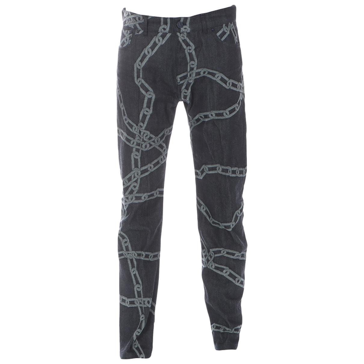Louis Vuitton N Black Cotton Jeans for Men 32 US