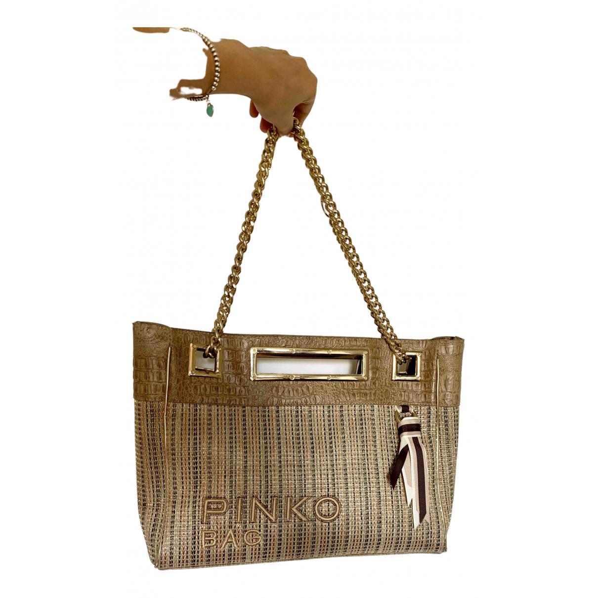 Pinko \N Gold handbag for Women \N