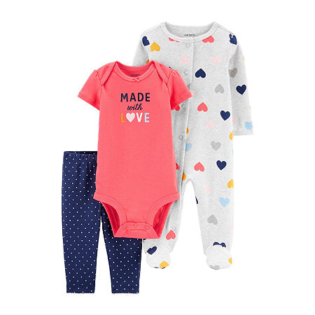 Carter's Baby Girls 3-pc. Clothing Set, 9 Months , Multiple Colors