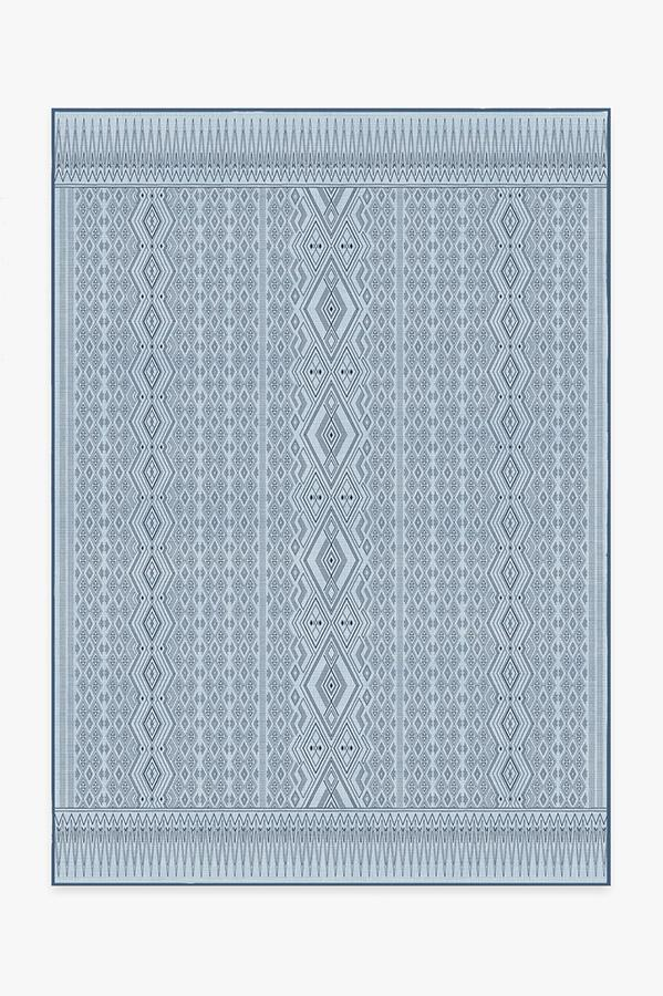 Washable Rug Cover & Pad | Herdanza Blue Overdye Rug | Stain-Resistant | Ruggable | 5'x7'