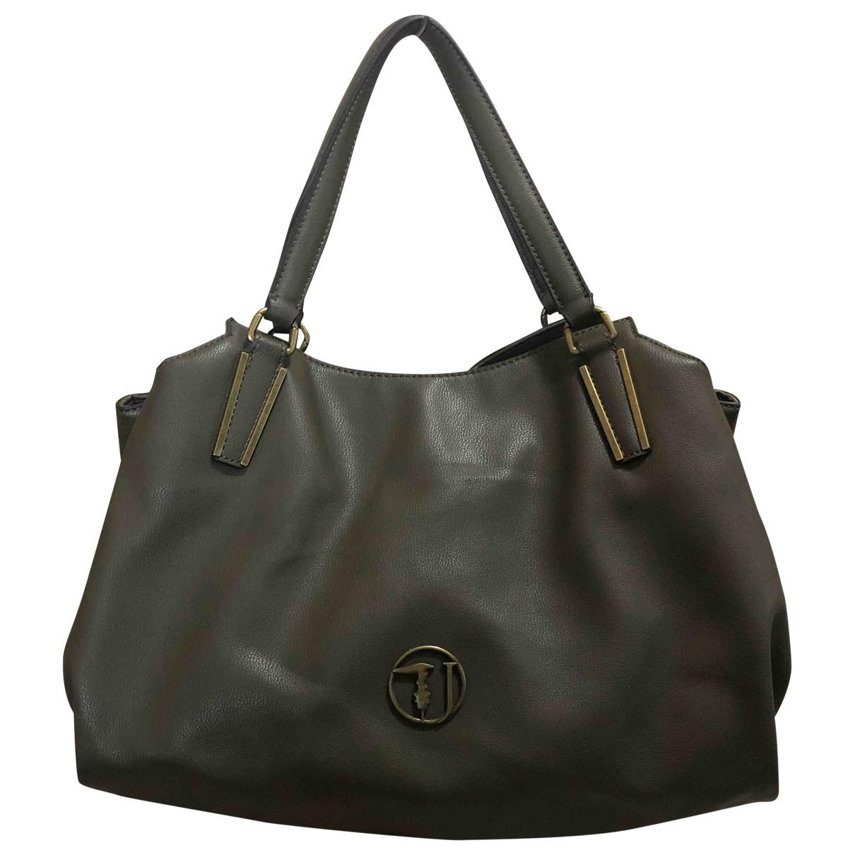 Trussardi \N Handtasche in  Gruen Leder