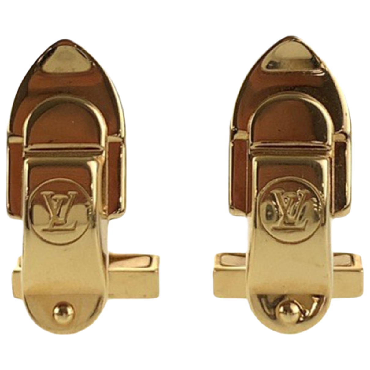 Louis Vuitton N Gold Metal Cufflinks for Men N