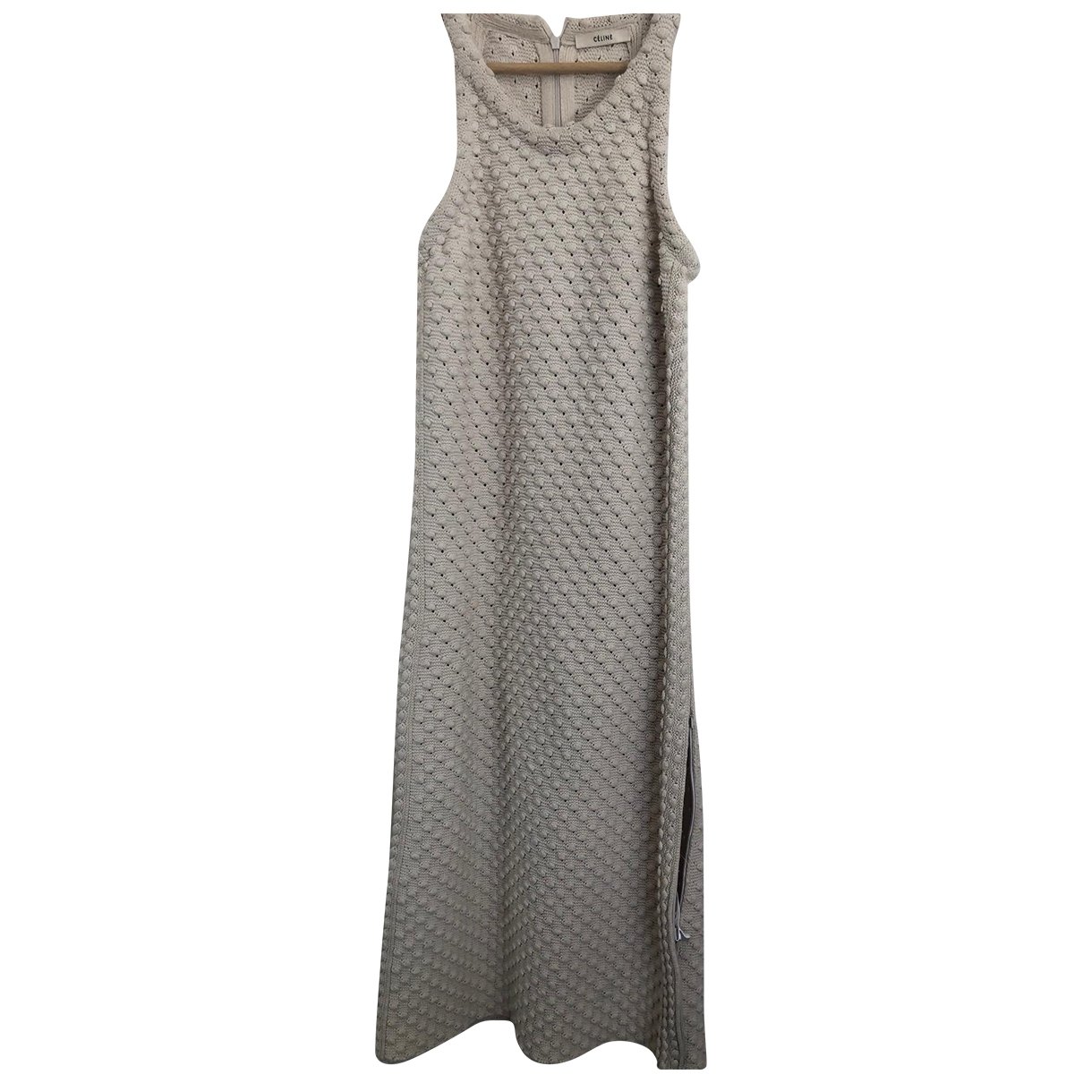 Celine \N Kleid in  Ecru Baumwolle - Elasthan