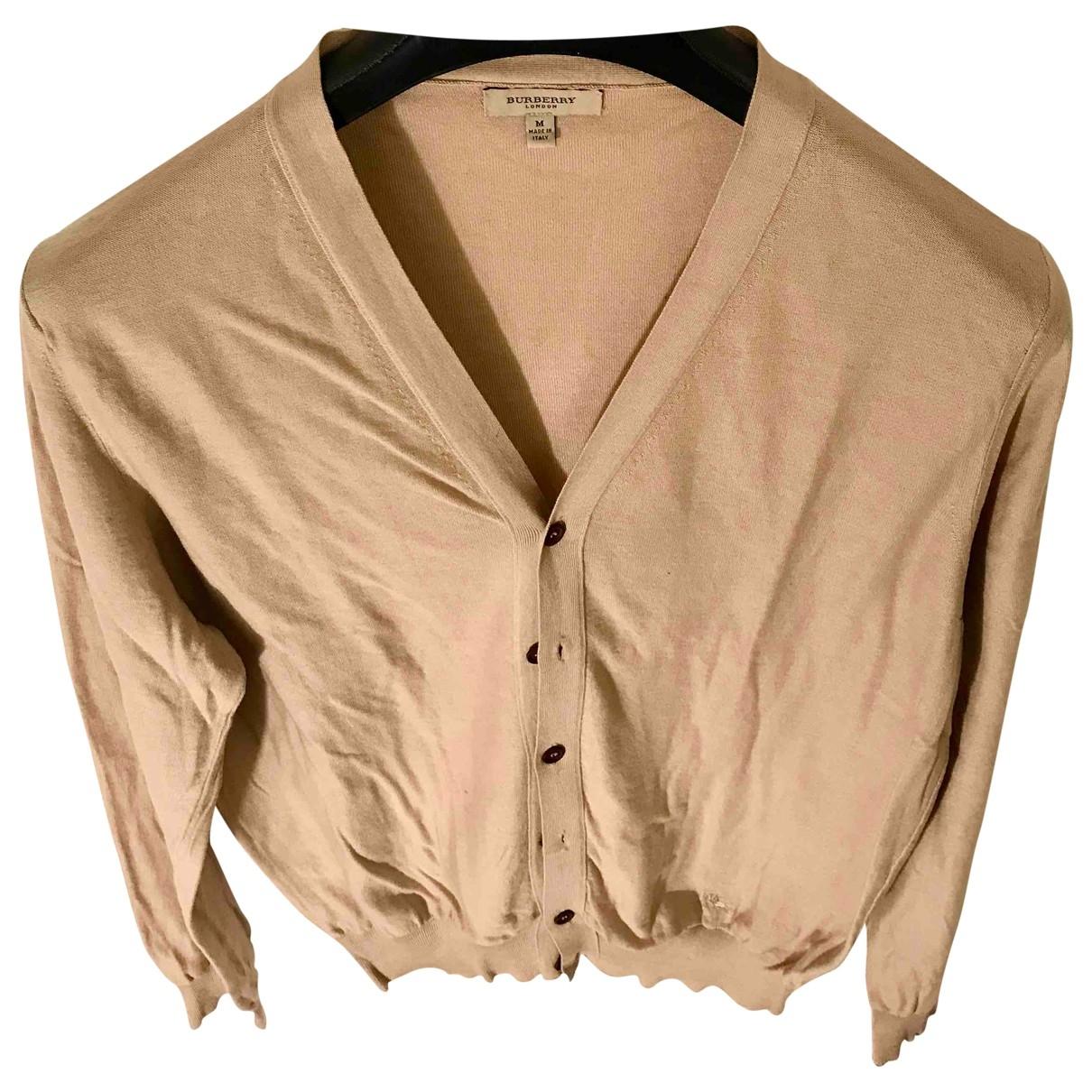 Burberry - Pulls.Gilets.Sweats   pour homme en coton - beige