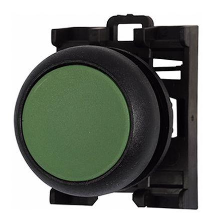Eaton , M22 Non-illuminated Green Push Button, 22mm Maintained