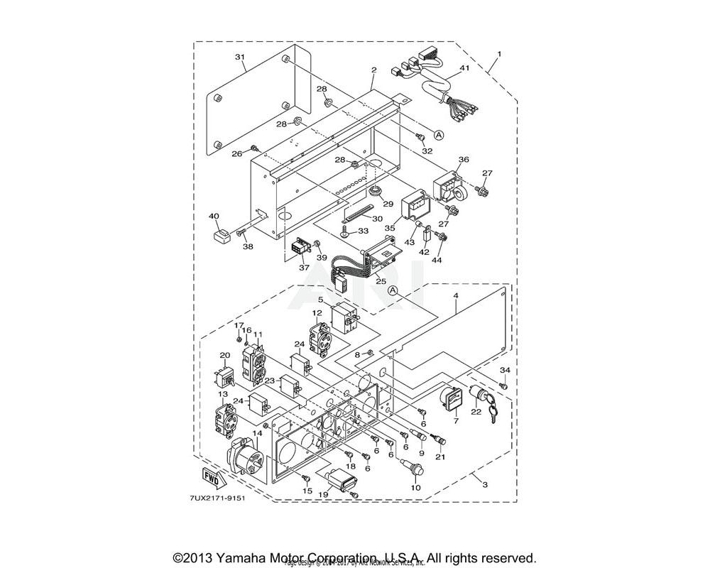 Yamaha OEM YA3-1G750-17-03 AC RECEPTACLE (125/250V-30A