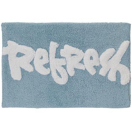 Creative Bath Splash Bath Rug, One Size , Blue