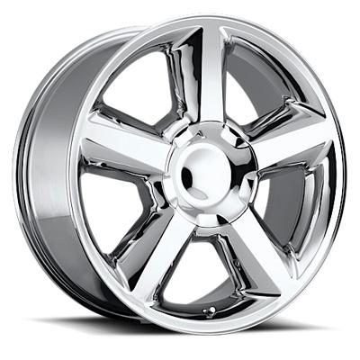 LTZ 20X8.5 6X139.7 +32MM 37 Lbs Chrome Aluminum Wheels 580 OE Replica Series REV Wheels 580C-2858332