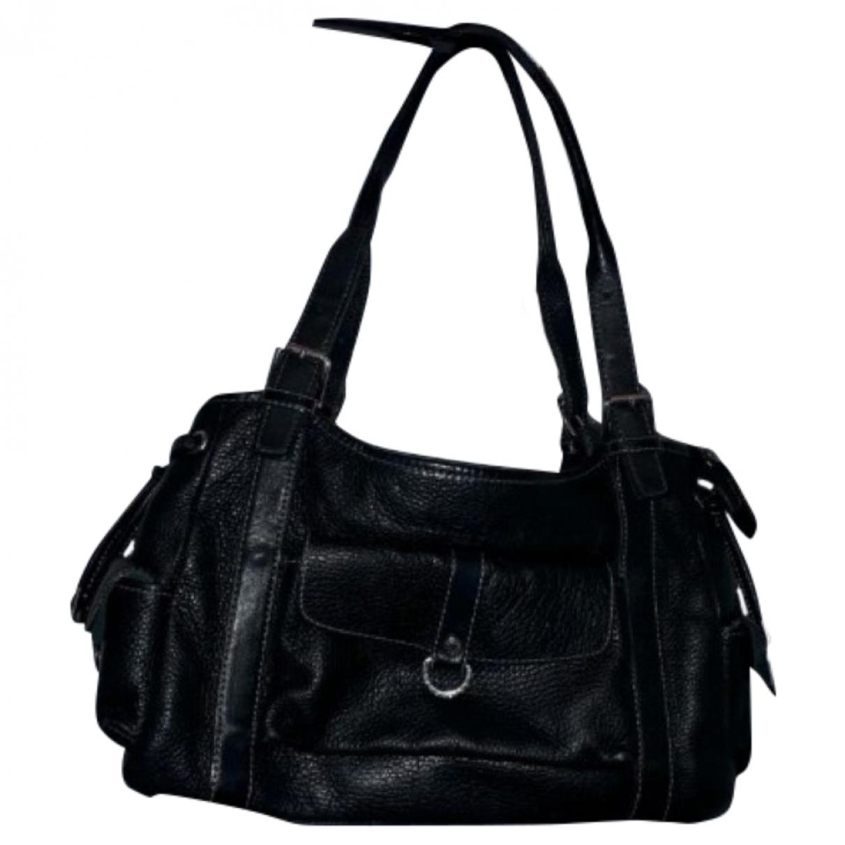 Lancaster \N Handtasche in  Schwarz Leder