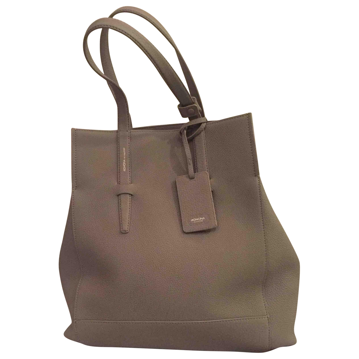 Agnona \N Handtasche in  Grau Leder