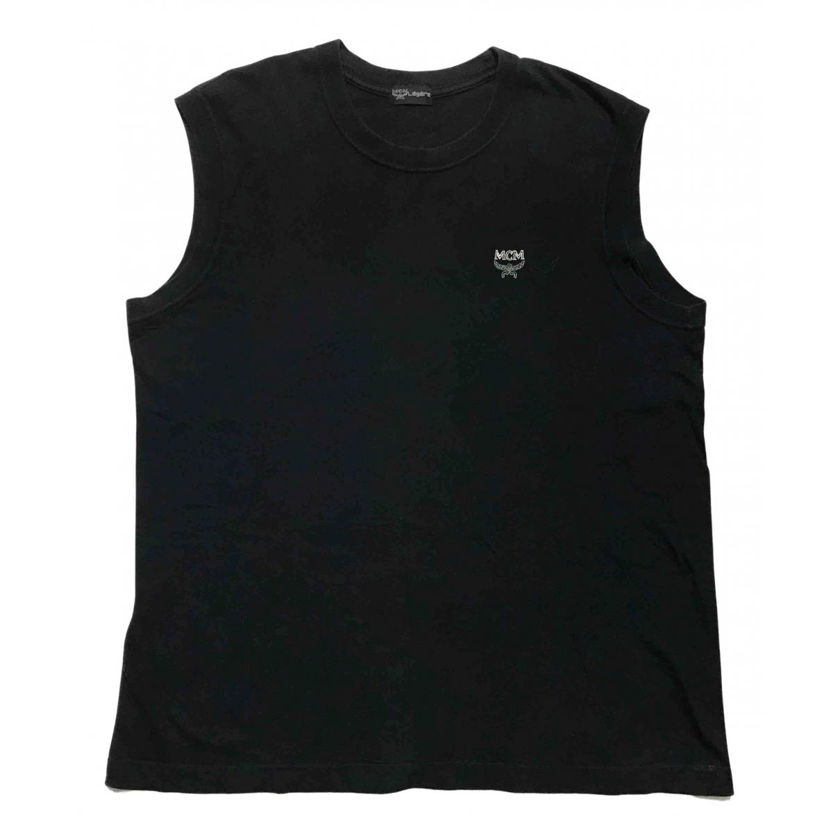 Mcm - Tee shirts   pour homme en coton - noir