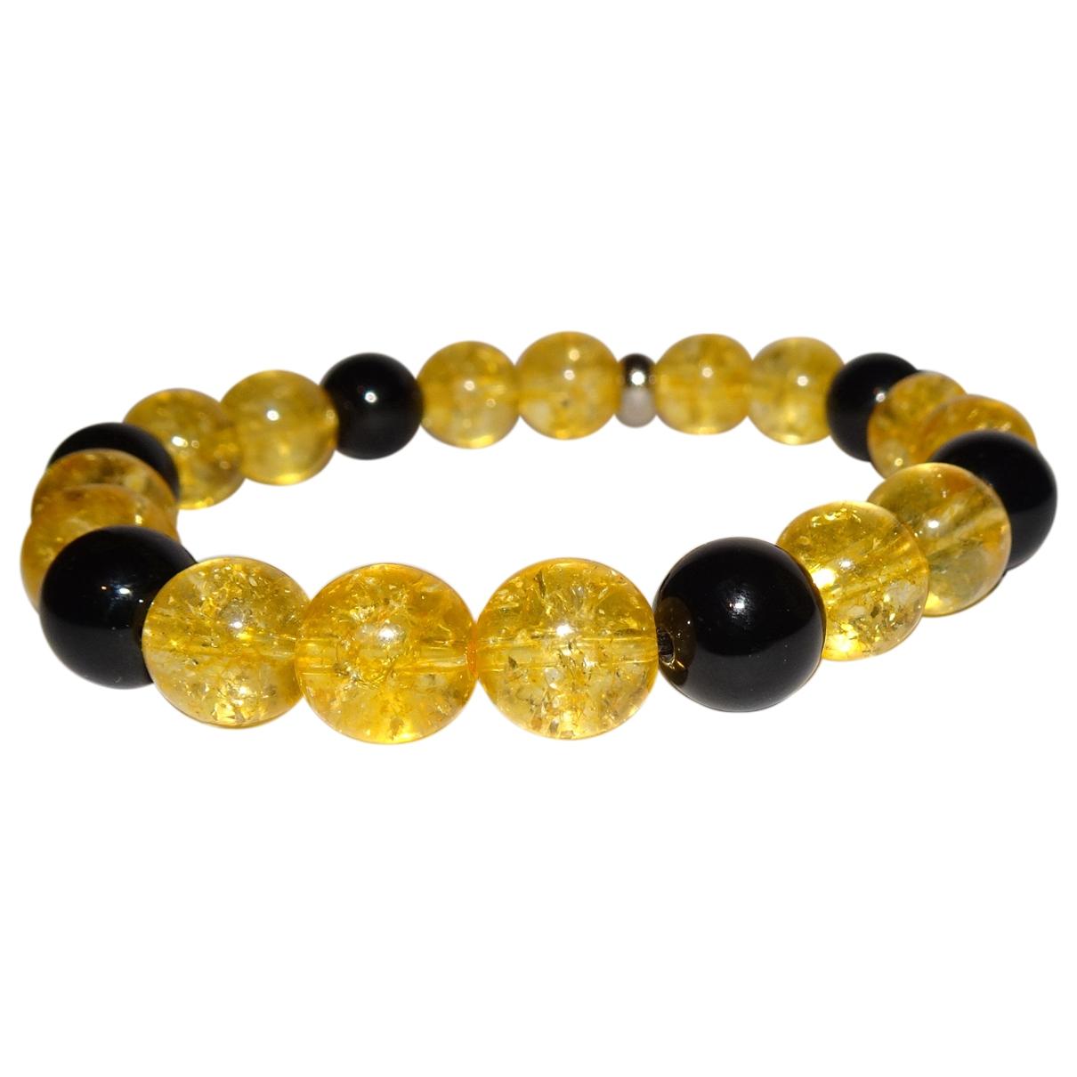 - Bracelet   pour femme en metal - jaune