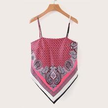 Paisley Print Self-Tie Bandana Top