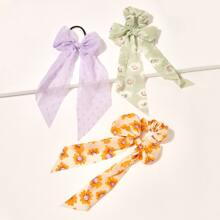 3pcs Floral Pattern Scrunchie