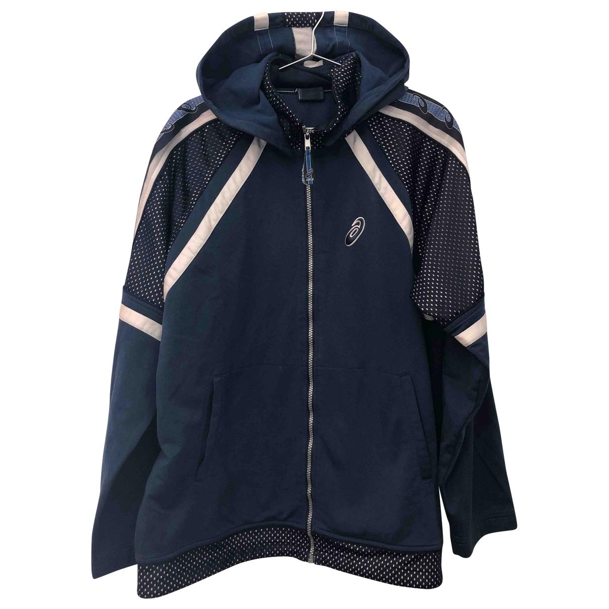 Asics \N Pullover.Westen.Sweatshirts  in  Blau Polyester