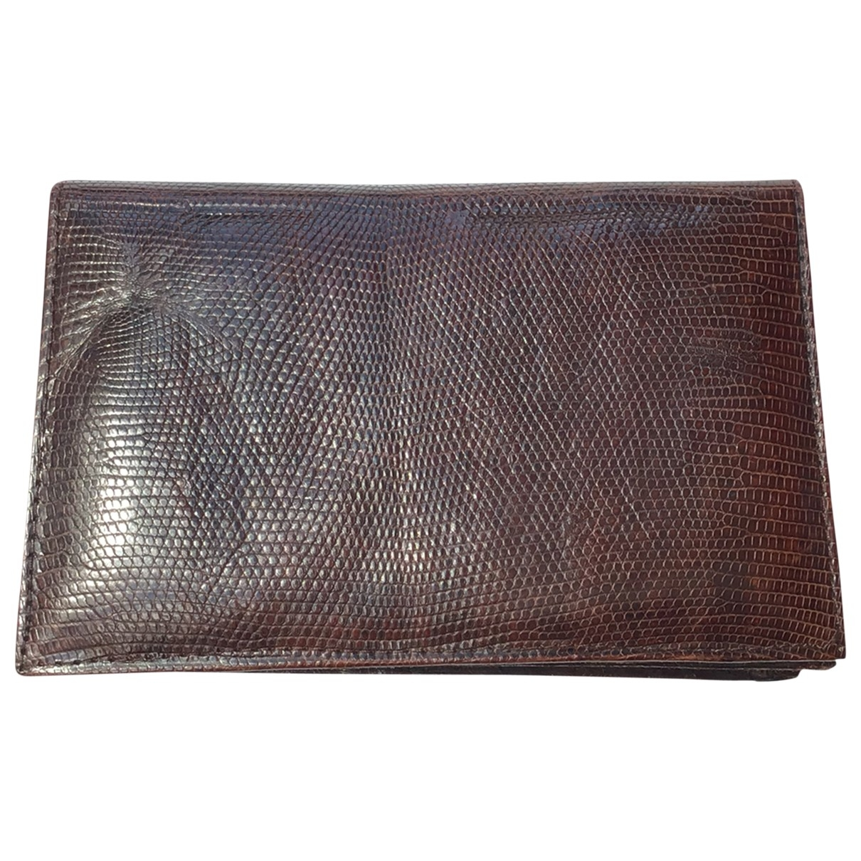 Non Signé / Unsigned \N Brown Lizard Purses, wallet & cases for Women \N