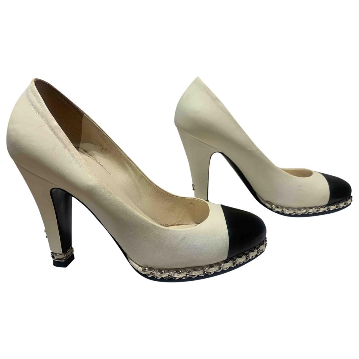 Chanel \N White Leather Heels for Women 39 EU