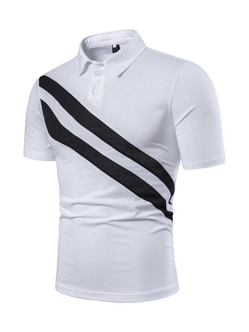 Ericdress Casual Button Mens Inelastic Polo Shirt