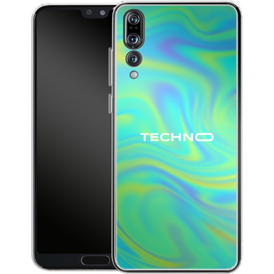 Huawei P20 Pro Silikon Handyhuelle - PSYCHEDELIC GREEN von Berlin Techno Collective