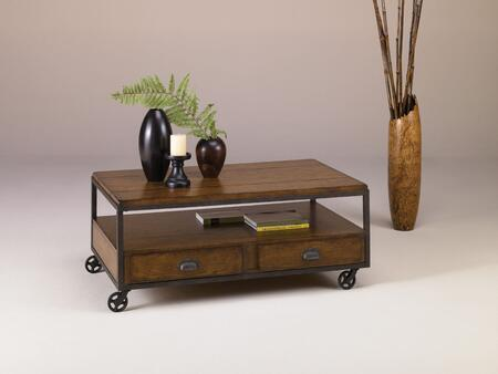 Baja Collection T20750-T2075207-00 Rectangular Storage Cocktail Table in Vintage