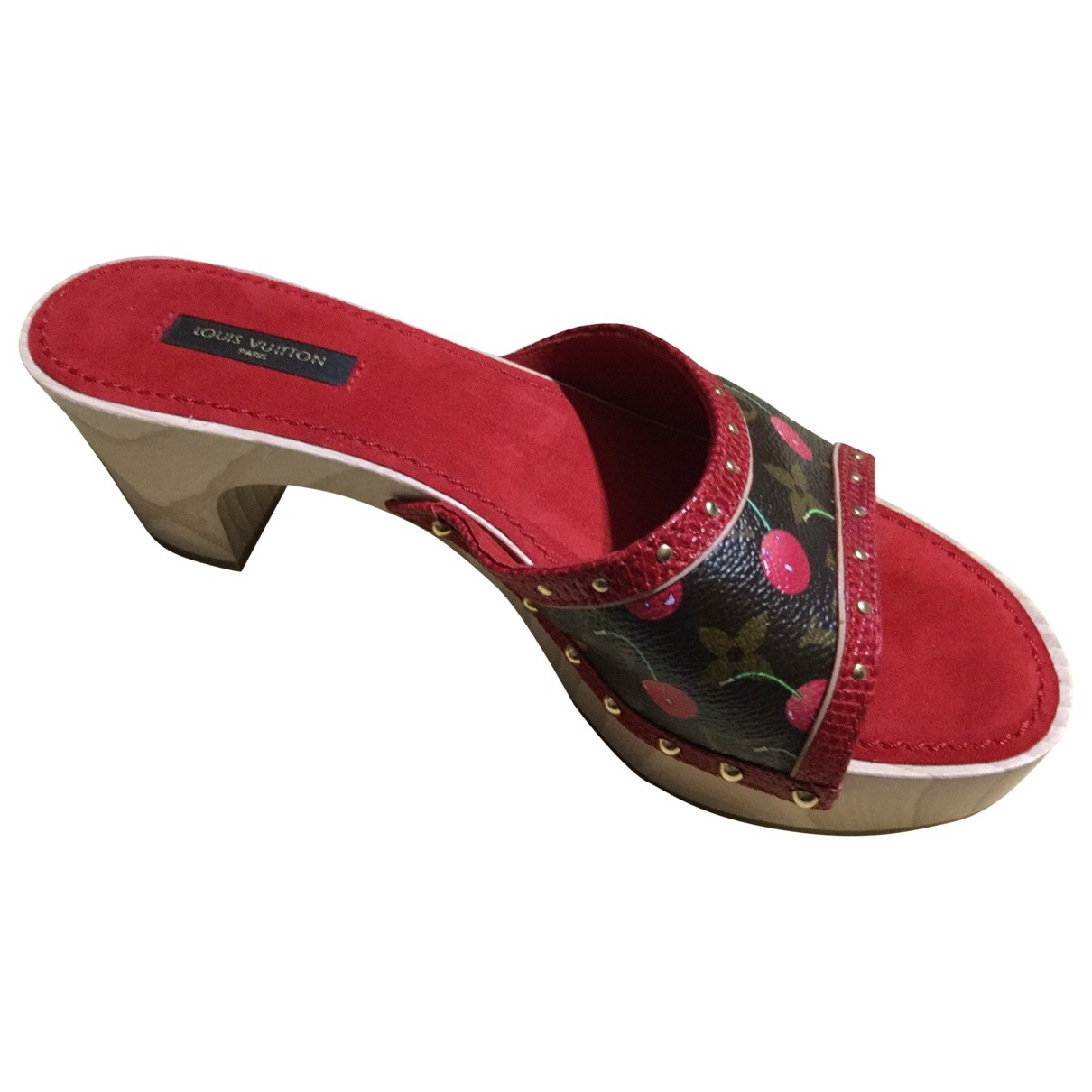 Louis Vuitton \N Clogs in  Rot Leinen