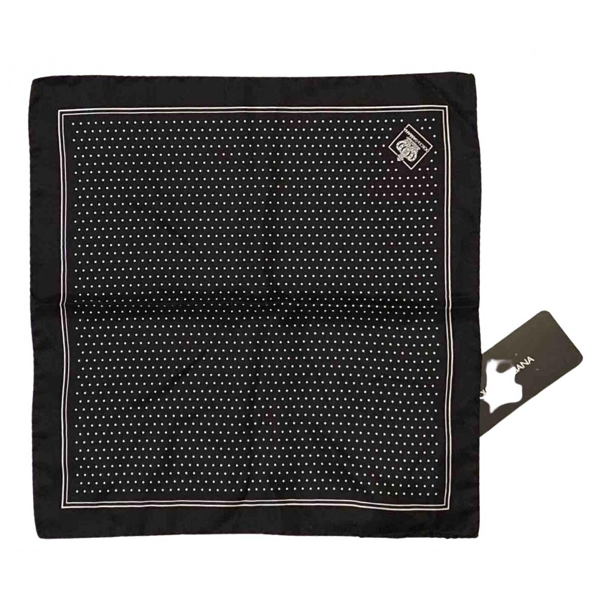Dolce & Gabbana \N Black Silk scarf & pocket squares for Men \N