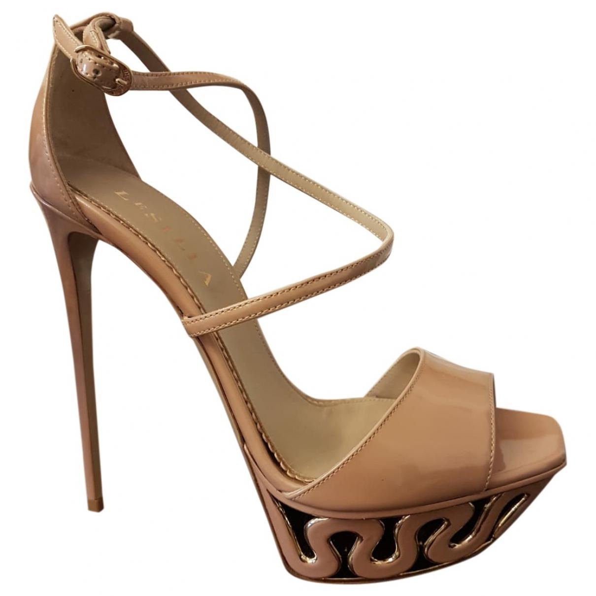 Le Silla - Sandales   pour femme en cuir - beige