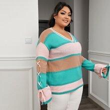 Jersey de manga con cordon de color combinado