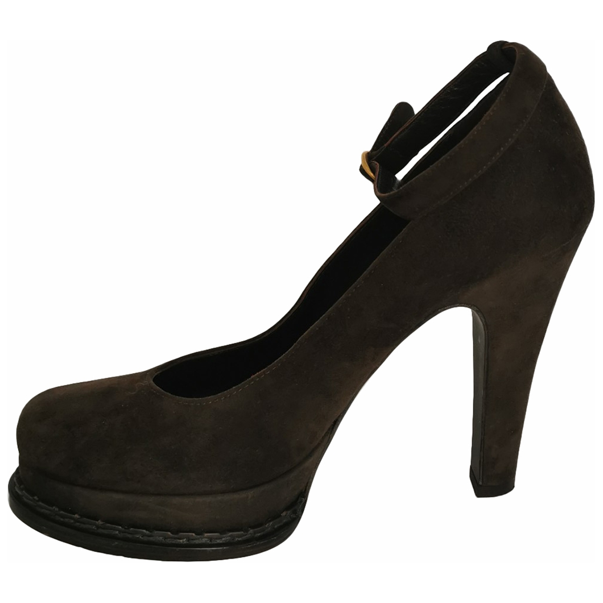 Yves Saint Laurent \N Brown Suede Heels for Women 38 EU