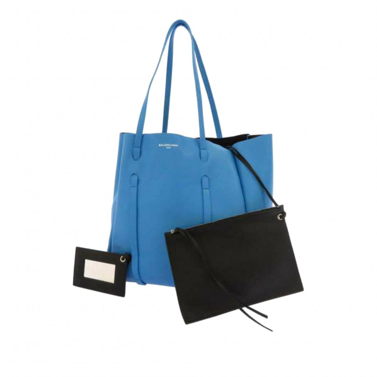 Balenciaga \N Blue Leather handbag for Women \N