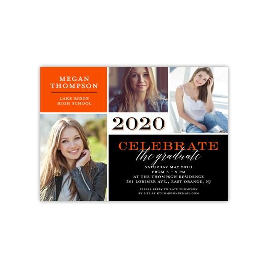 Gartner Studios® Personalized Fine Details Flat Graduation Invite in Orange   5