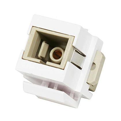 Modular SC Keystone Jack - White - Monoprice®