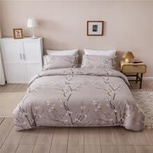Plum Blossom Print Bedding Set Without Filler